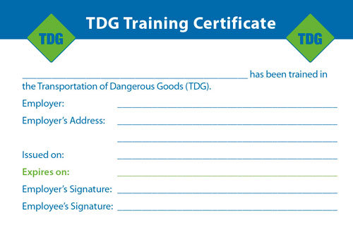 Products archive page 9 of 9 global hazmat for Dangerous goods certificate template