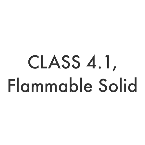 Class 4.1 – Flammable Solid