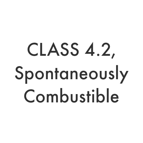 Class 4.2 – Spontaneously Combustible