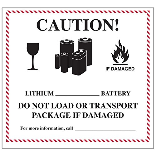 Lithium Battery Handling Labels