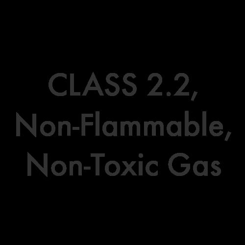 Class 2.2 – Non-Flammable, Non-Toxic Gas