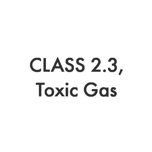 Class 2.3 – Toxic Gas