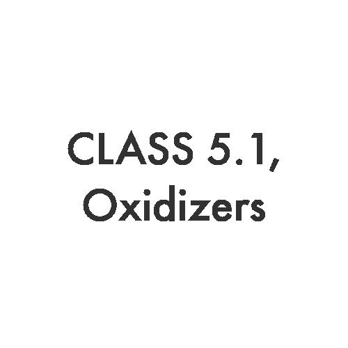 Class 5.1 – Oxidizers